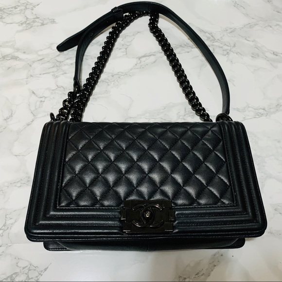 CHANEL Handbags - CHANEL RARE So Black Boy Bag